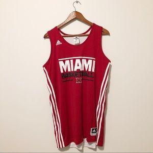 [ adidas ] • #1 Miami basketball jersey